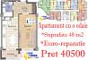 Apartament 48 m2 / 1 odaie / antreu si bucatarie spatioase