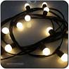 Cablu ghirlanda luminoasa,10 m cu 20 dulii, iluminat exterior, panligh